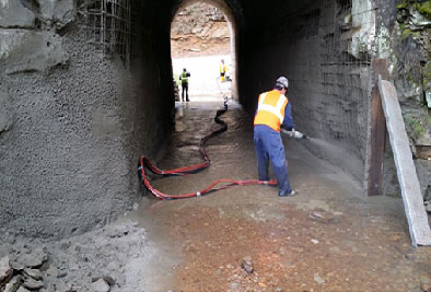 shotcrete installations